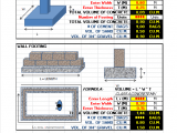 Construction Estimate calculator Excel Sheet