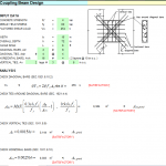 Coupling Beam Design Excel Sheet