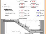 Design of Dog-Legged Stair Excel Sheet