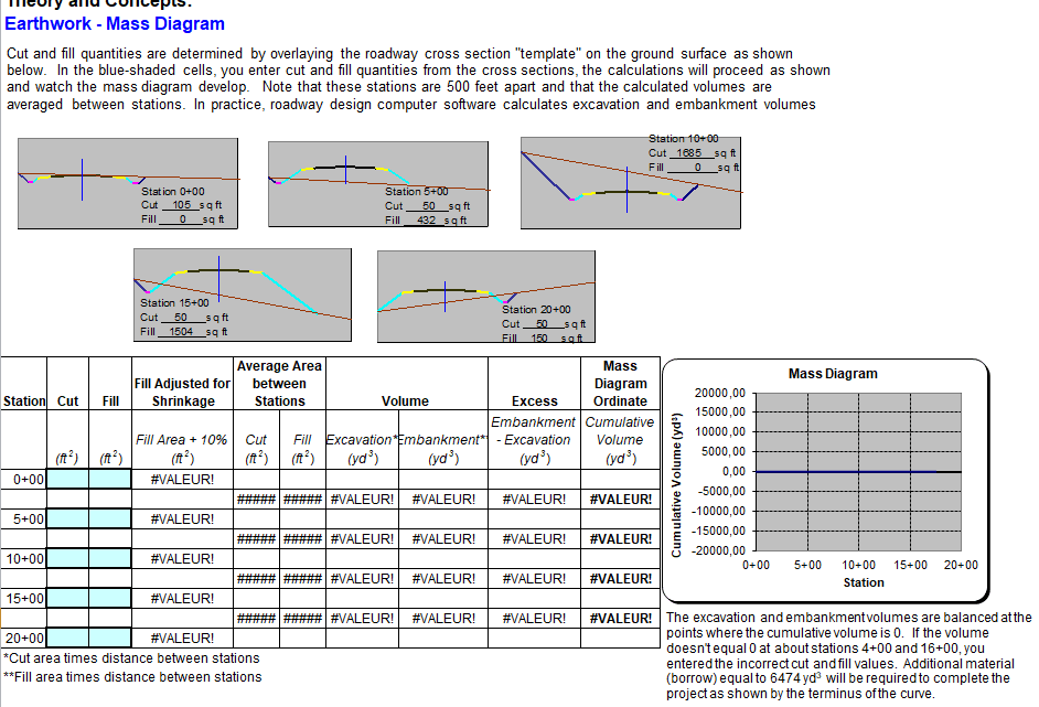 Earthwork Calculation Spreadsheet