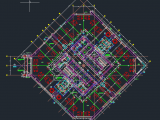 Hotel Tower Layout Plan Autocad Drawing