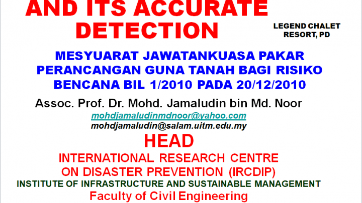 Landslide and its accurate detection Presentation