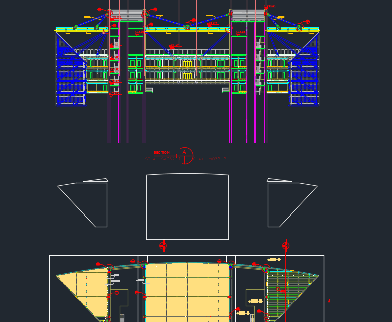 Metal Trellis at Roof Top Details Autocad DWG File