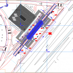 Metro Station General Arrangement and Layout Site Plan Autocad Drawing