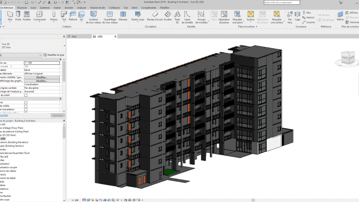 Multi-storey building Revit 3D Model