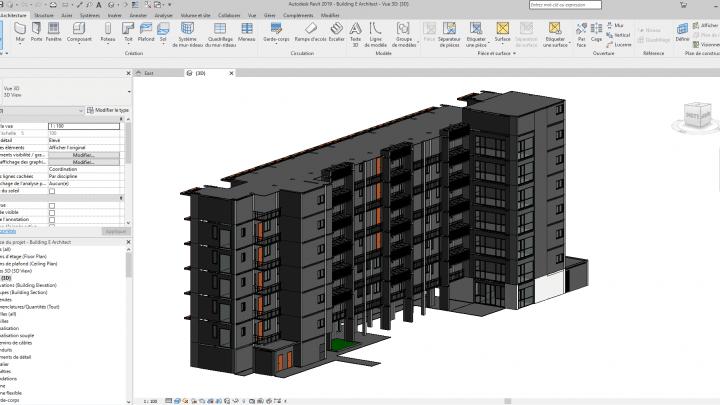 Multi-storey building Revit 3D Model