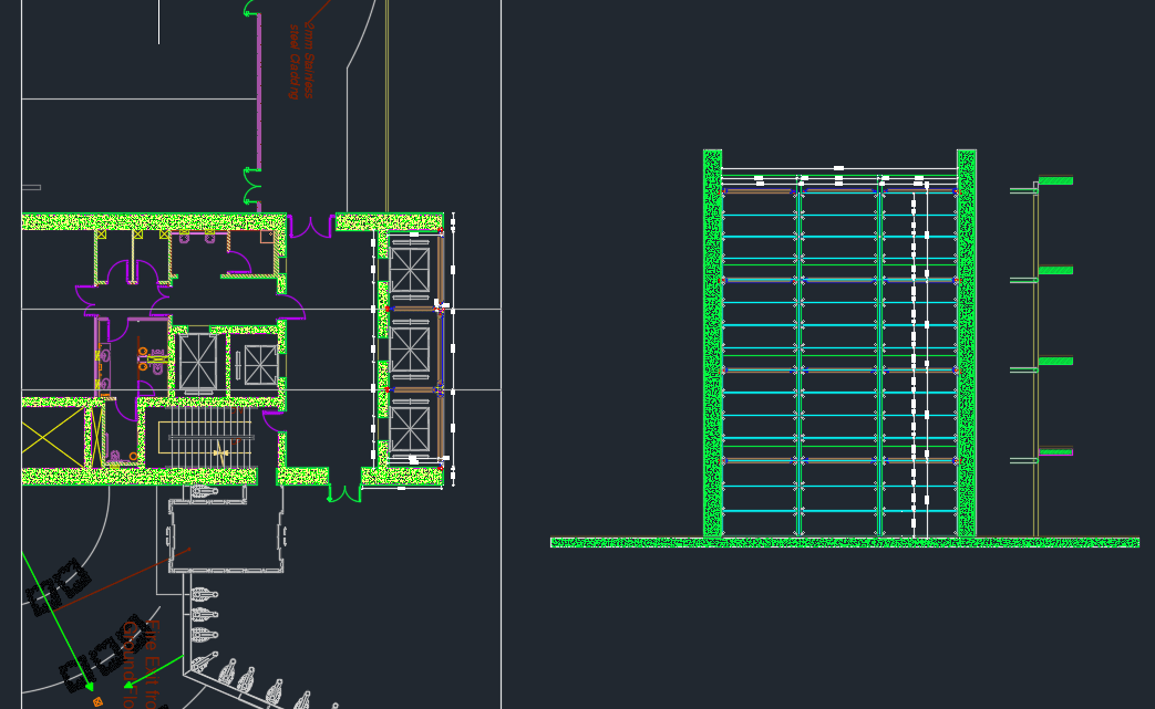 Panoramic Elevator Steel Structure Autocad DWG File