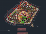 Pedestrian Ramps Profil and Layout Plan Autocad DWG File