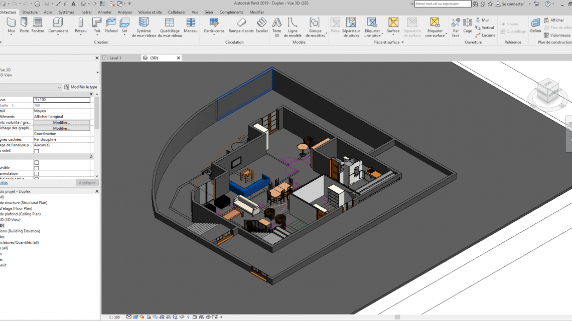 Residential Duplex Building Revit Model