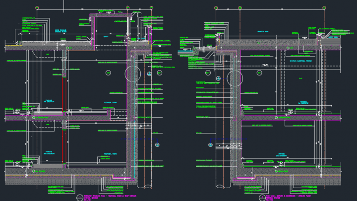 Retaining Wall Details Autocad Drawing