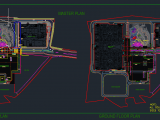 Roads connection Master Plan Autocad Drawing