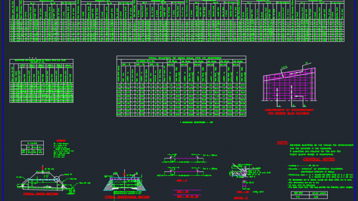 Slab Culvert Detail Autocad Drawing
