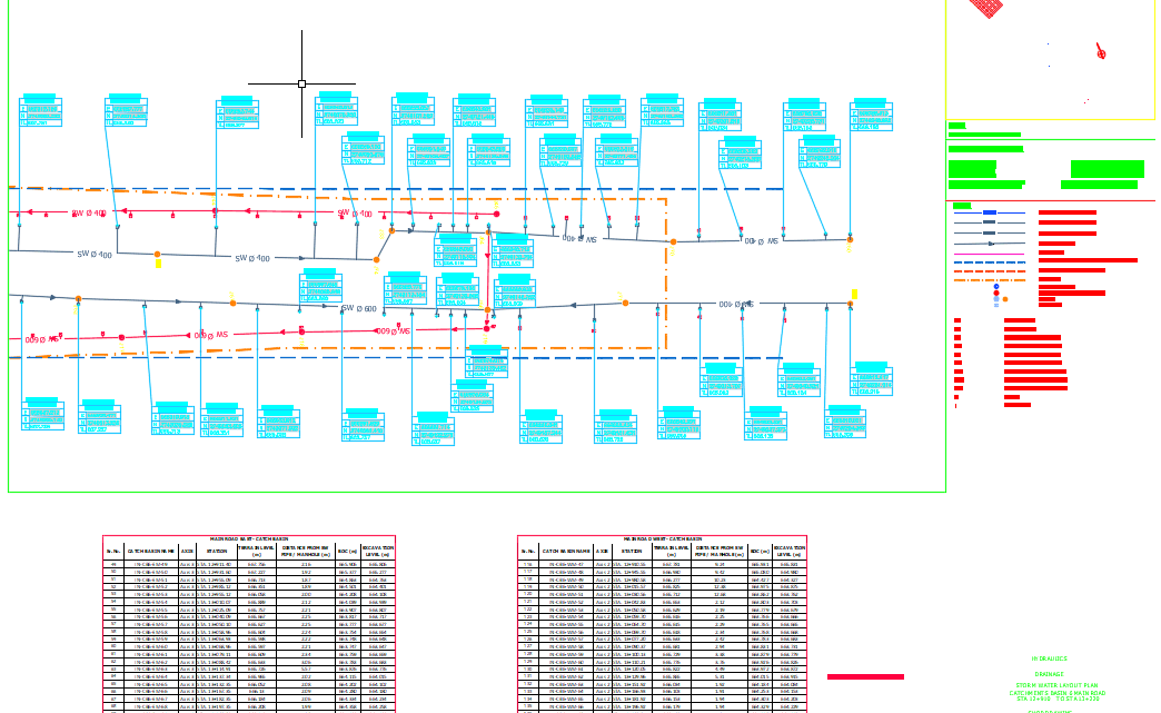 Storm Water Layout Plan Autocad Drawing
