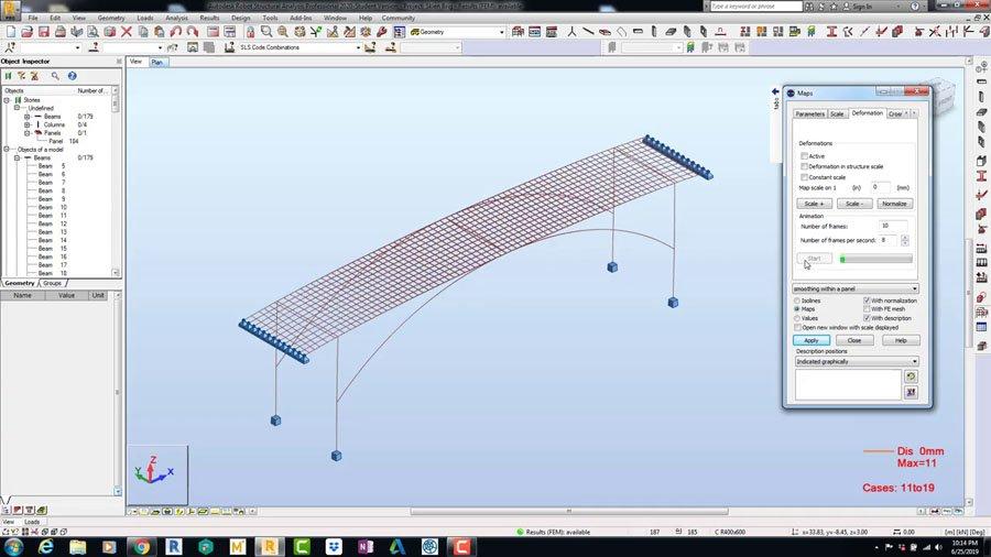 Designing, Analysis & Documenting of RCC Bridge Robot Structural Analysis Professional 2020