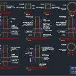 Typical Concrete Column Details Autocad Drawing