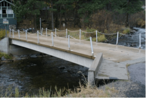 Precast concrete double-T specialty bridge