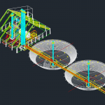 Silo Details 3D Plan – Autocad Drawing