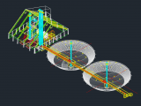 Silo Details 3D Plan - Autocad Drawing