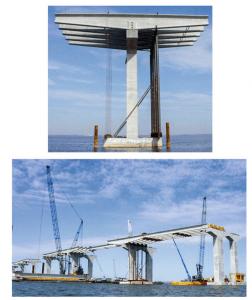 Spliced girder bridge