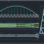 Bridge Across a River Autocad Free Drawing