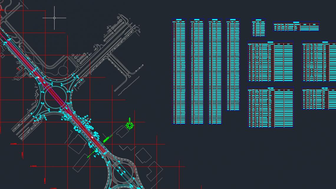 Bridge Settingout Template Autocad Free Drawing