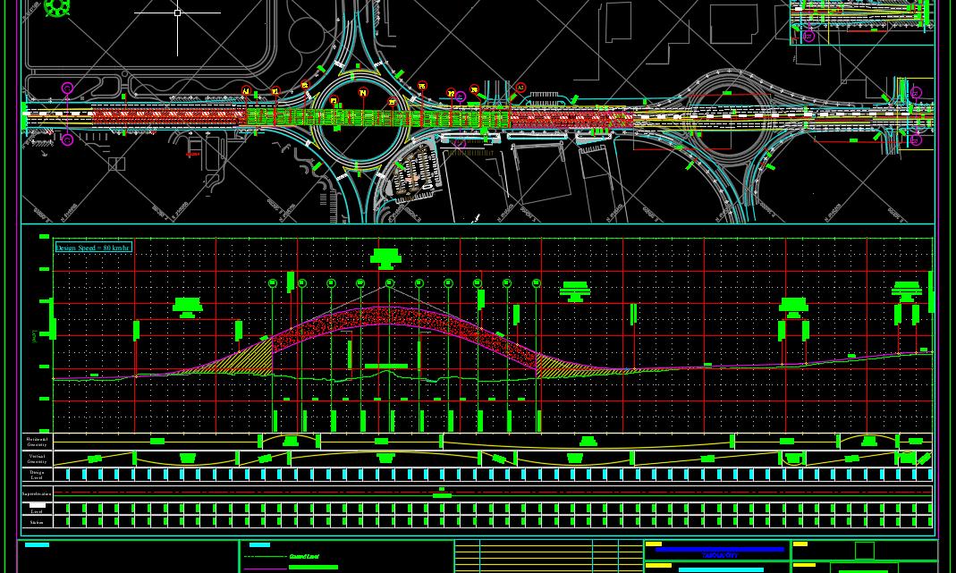 Plan and Longitudinal Profile for Bridge Autocad Free drawing