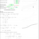 Steel Beam Design Excel Sheet with Gravity Loading
