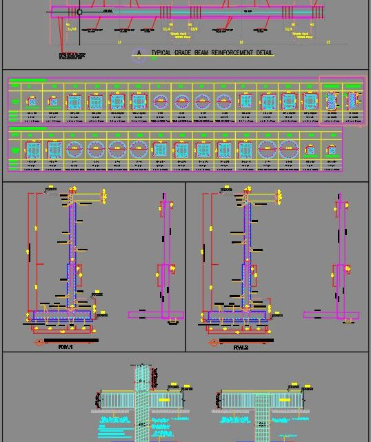Typical Structure Details Autocad Drawing