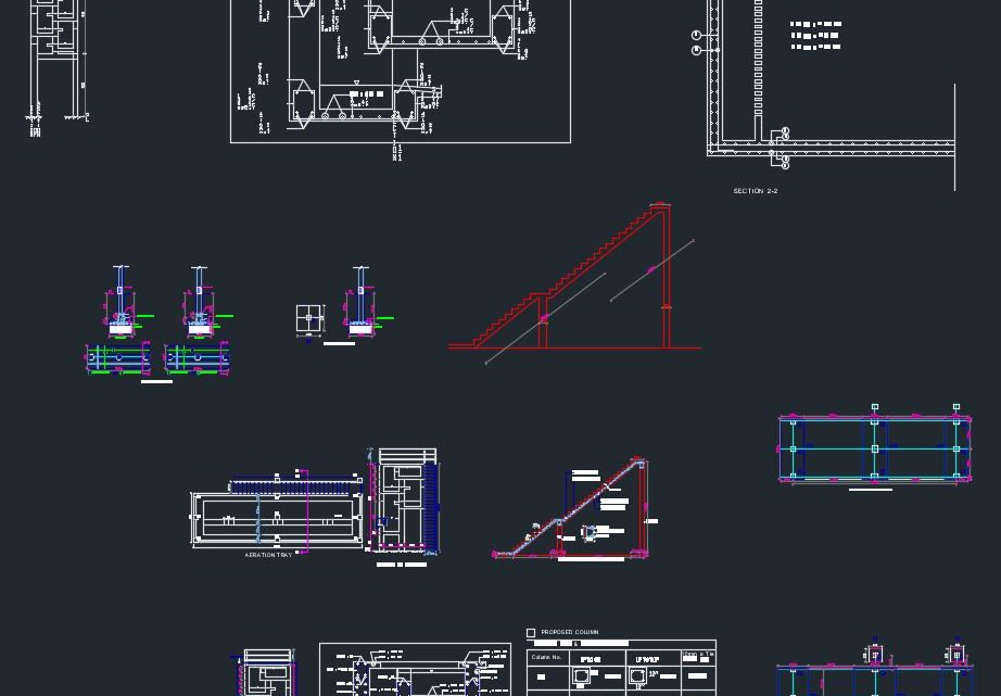 Aeration Tray Details Autocad Free Drawing