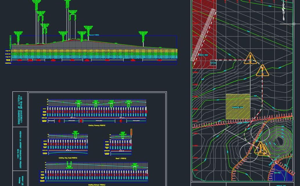 Airport Ring Road Plan Autocad Free Drawing