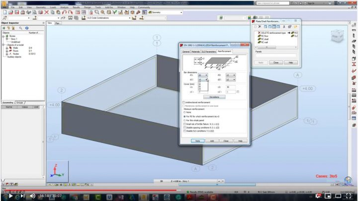 Analysis, Designing and Documenting of RCC Swimming pool using Robot Structural Analysis Professional 2020