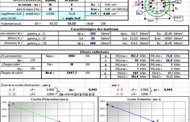 Composed Column Calculation Spreadsheet