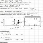 Design of Rectangular Water Tank Spreadsheet