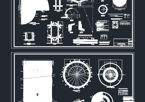 Elevated Tank Structural Details Autocad Drawing
