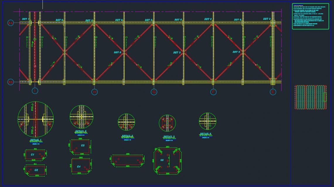 HL Bracing Details Autocad Free Drawing
