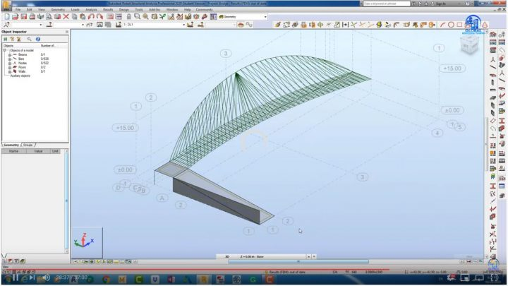 Modelling of Cable bridge Using Robot Structural Analysis Professional 2020