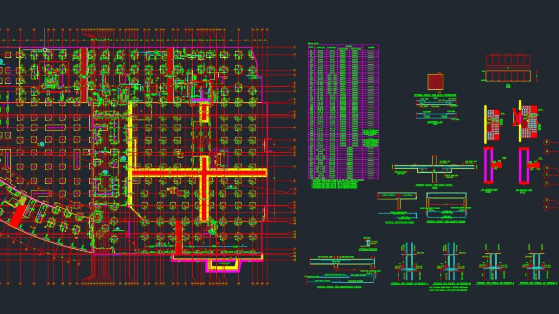 Parking Ceiling Details Autocad Free Drawing