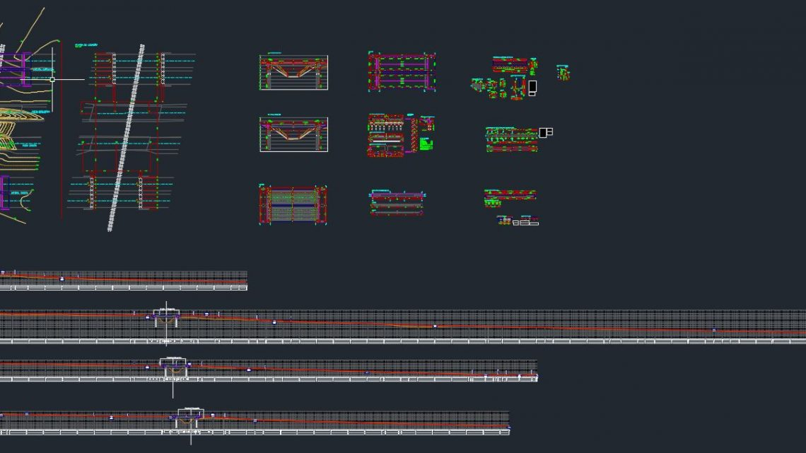 Railway Viaduct Project Autocad Drawing