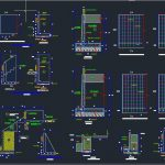 Retaining Wall Reinforcement Details Autocad Drawing