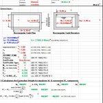 Seismic Loads for Liquid-Containing Rectangular RC Tank Spreadsheet