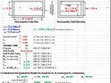 Seismic Loads for Liquid-Containing Rectangular RC Tank according to ACI 350.3-06 Spreadsheet