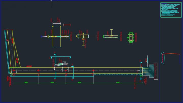 Steel Column of Frame Details Autocad Free Drawing