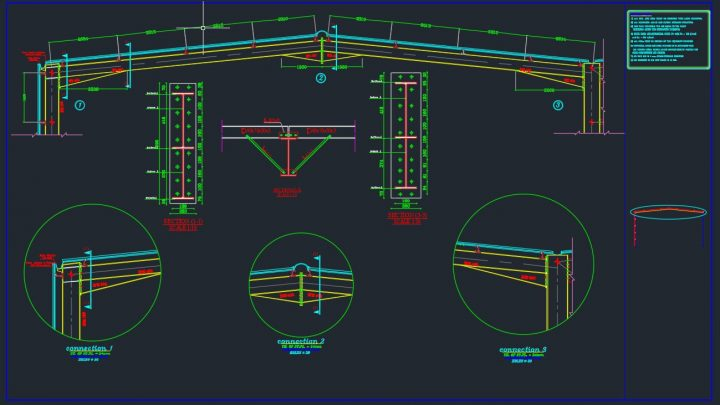 Steel Rafter Details Autocad Free Drawing