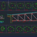Steel Truss Detailing Autocad Free Drawing