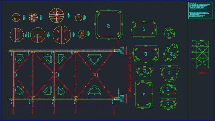 VL Bracing Details Autocad Free Drawing