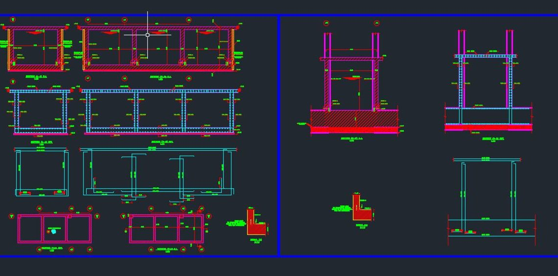 Water Tank Details Autocad Free Drawing