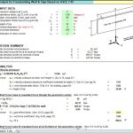 Wind Analysis for Freestanding Wall and Sign Spreadsheet