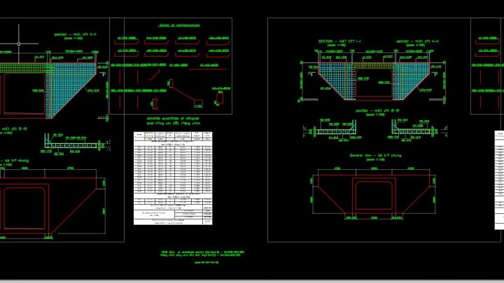 WingWall of Culvert Details Autocad Drawing