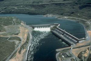 Chief Joseph Dam overflow spillway