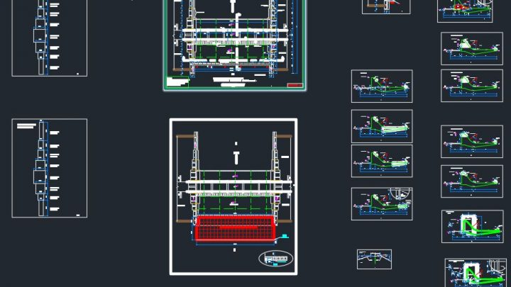 Concrete Spillway Details Autocad Free Drawing